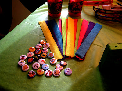 Totally Awesome 80's Party via Kara's Party Ideas and sunglasses, slap bracelets, and pins