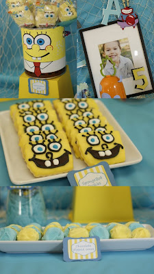 Spongebob theme party   Kids party ideas birthdays, bridal and baby showers   http://www.frostedevents.com  DC MD VA