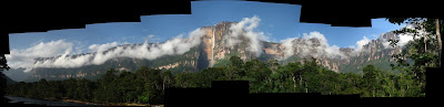 Panoramic view of Auyantepui