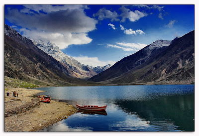 Tourist boat at Lake Saiful Muluk