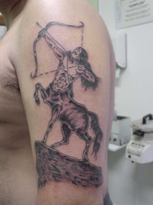 That classical image acts as a base for many Sagittarius tattoos.