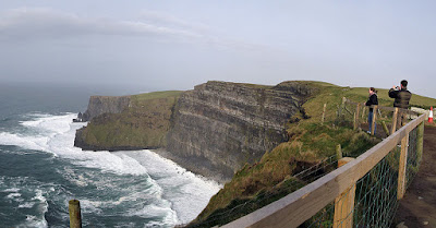 Panoramic view of the Cliffs of Moher