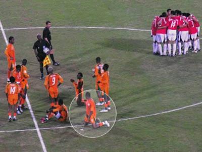Fotos curiosas do futebol internacional