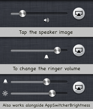 Touch Users to Change Ringer and Music Volume from the Switcher Bar