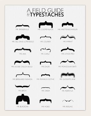 Typestaches Printable