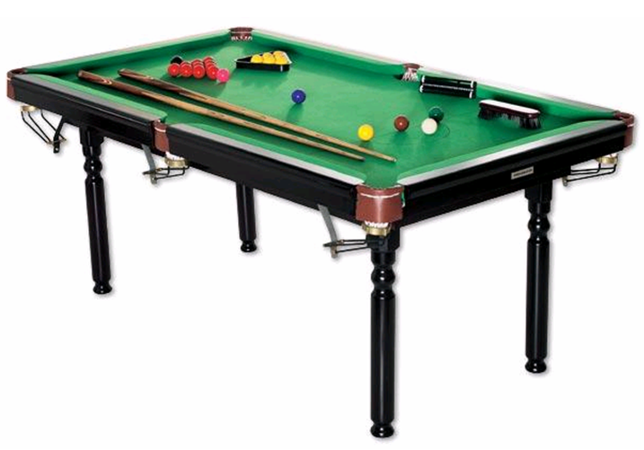 AMBASSADOR Pool Table. 2 X Solid Wood Cue (52u0027) With Carry Bag. (Note: One  Of The Cues Has Been U201cmodifiedu201d, Chopped To A Length Of 1m)