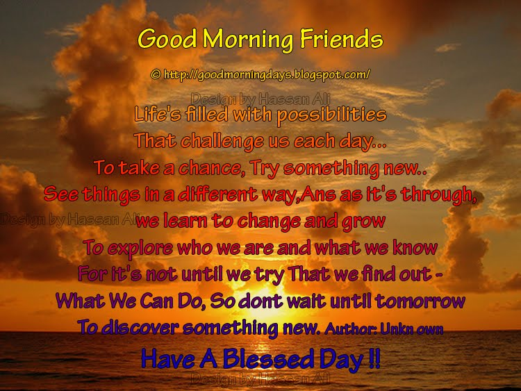 Good Morning Thoughts for 27-03-2010