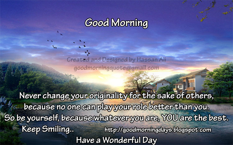Good Morning Saturday. 8 Inspiring Beautiful Quotes for the day
