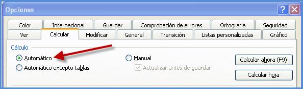 Curso Mentor de Office: Problema: Excel no actualiza los datos de ...