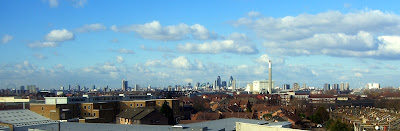 the skyline of London as seen from my window