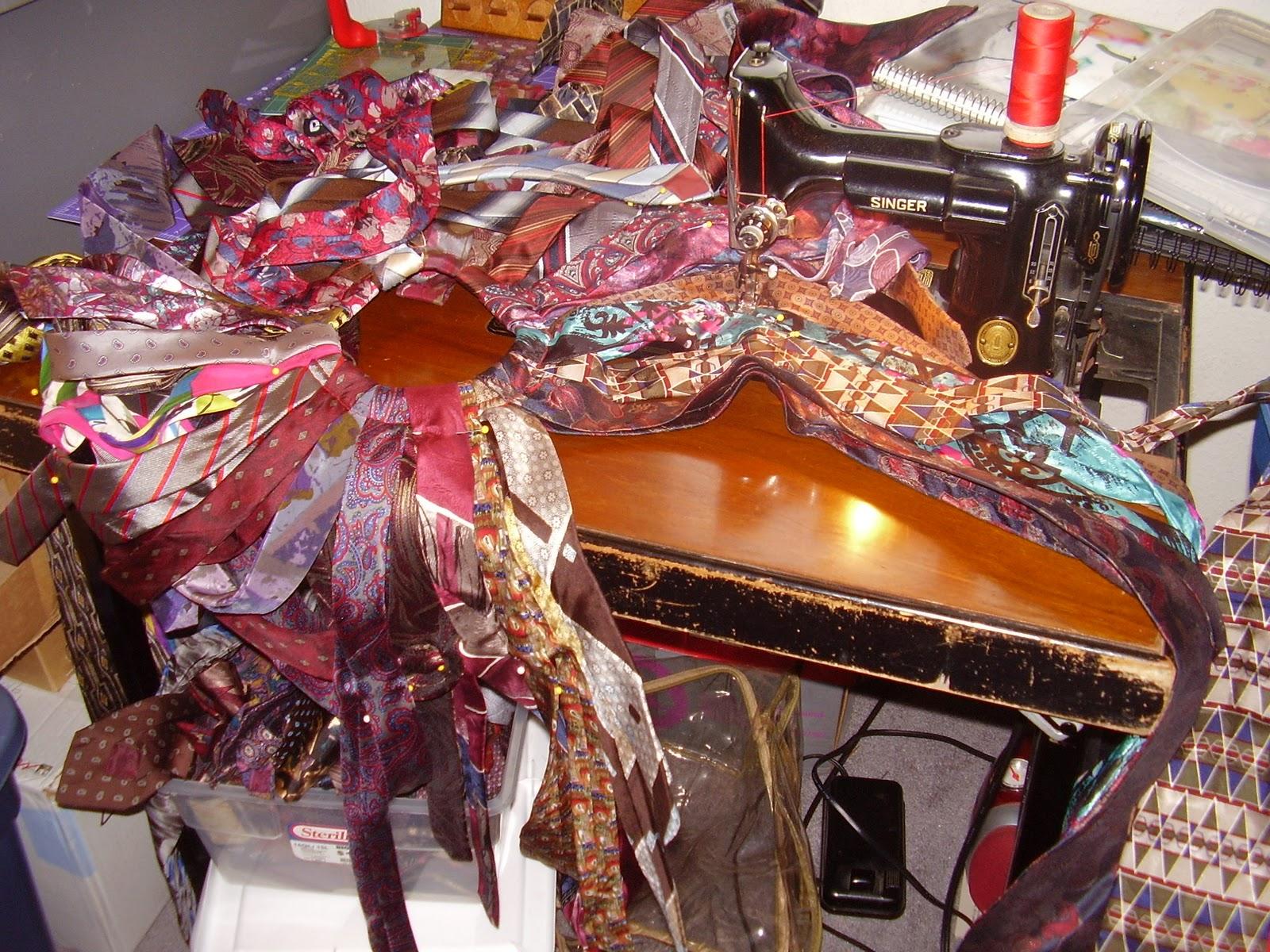Mary's Art Musings: Necktie Christmas Tree Skirt