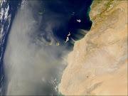 Sahara y Canarias, satélite.