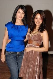 Vidya Malvade and Anjana Sukani pose together