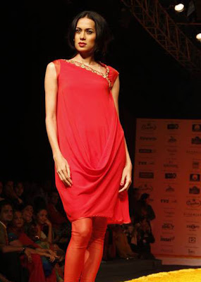 Red at Kolkata Fashion Week