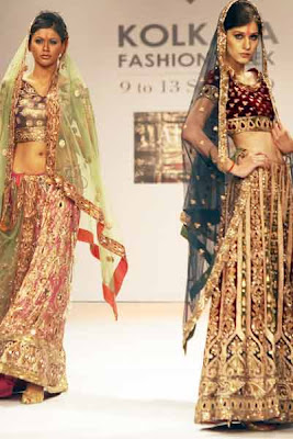 Creations by Abhishek & Vineet at the Kolkata Fashion Week