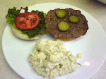 Burger &amp; Potato Salad