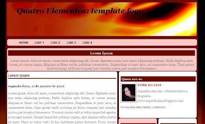 4 Elementos_Template Fogo