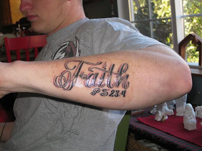 letter faith tattoos