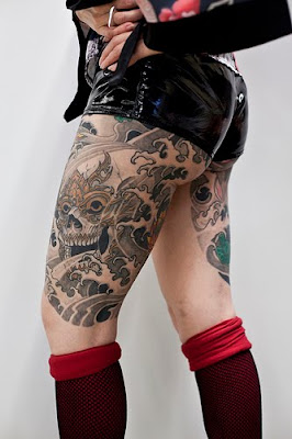 thigh tattoos designs