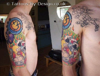 Picture tattoo collection tattoos simpson tattoo for Homer simpson tattoos