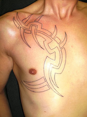 Labels: tribal chest tattoos for men