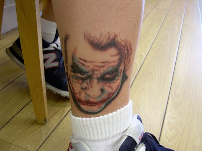 joker tattoo are nice ideas to get a awasome tattoo designs on foot.