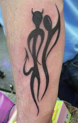 demon tattoos for girls on half sleeves