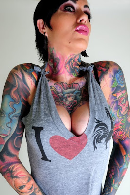 girls tattoo model