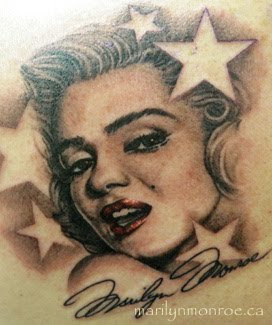 marilyn monroe potrait tattoos