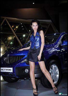 韓版林志玲 車展 model