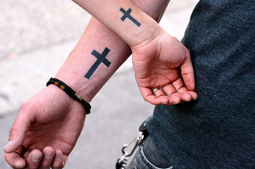 Small Cross Tattoos On Wrist. Small Cross Tattoos - Designs and Gallery