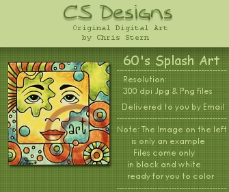 60s splash arty digital stamp