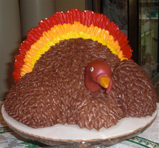 Confessions of a Holiday Junkie!: Turkey Cake...Really???