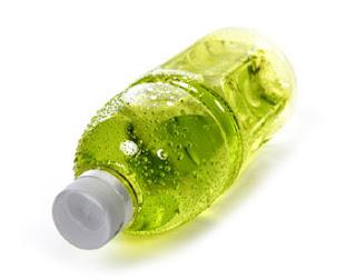 bottle of sports drink