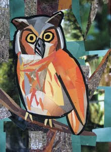 Owl by collage artist Megan Coyle