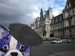 Bosty goes to Paris by collage artist Megan Coyle