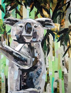 Koala Bear by collage artist Megan Coyle