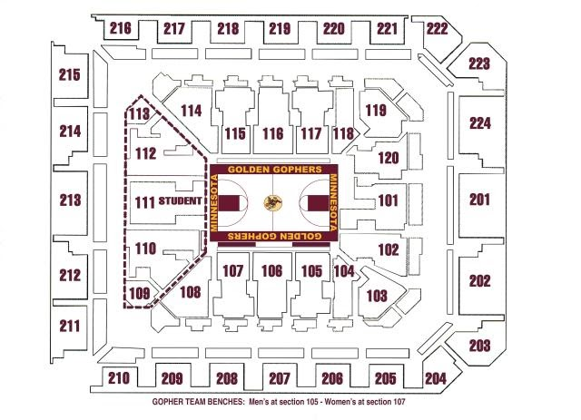Williams arena williams arena seating chart