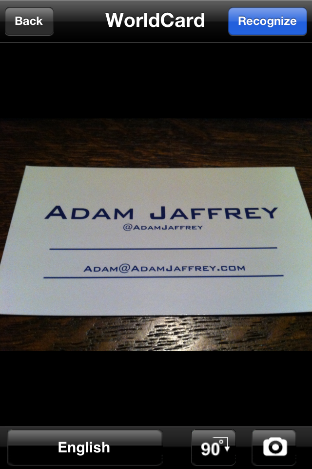 Worldcard moble app review adam jaffrey worldcard mobile like other business card scanning apps helps to reduce the burden of manually copying text from business cards to digital contact colourmoves