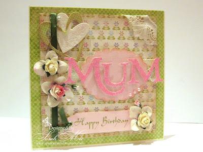 Sparkle Cards Happy Birthday Mum