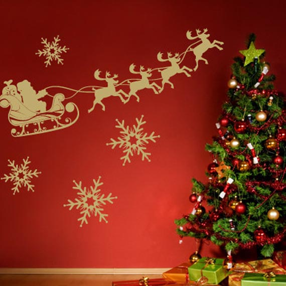Wall Decorating For Christmas : House of decor holiday wall d?cor