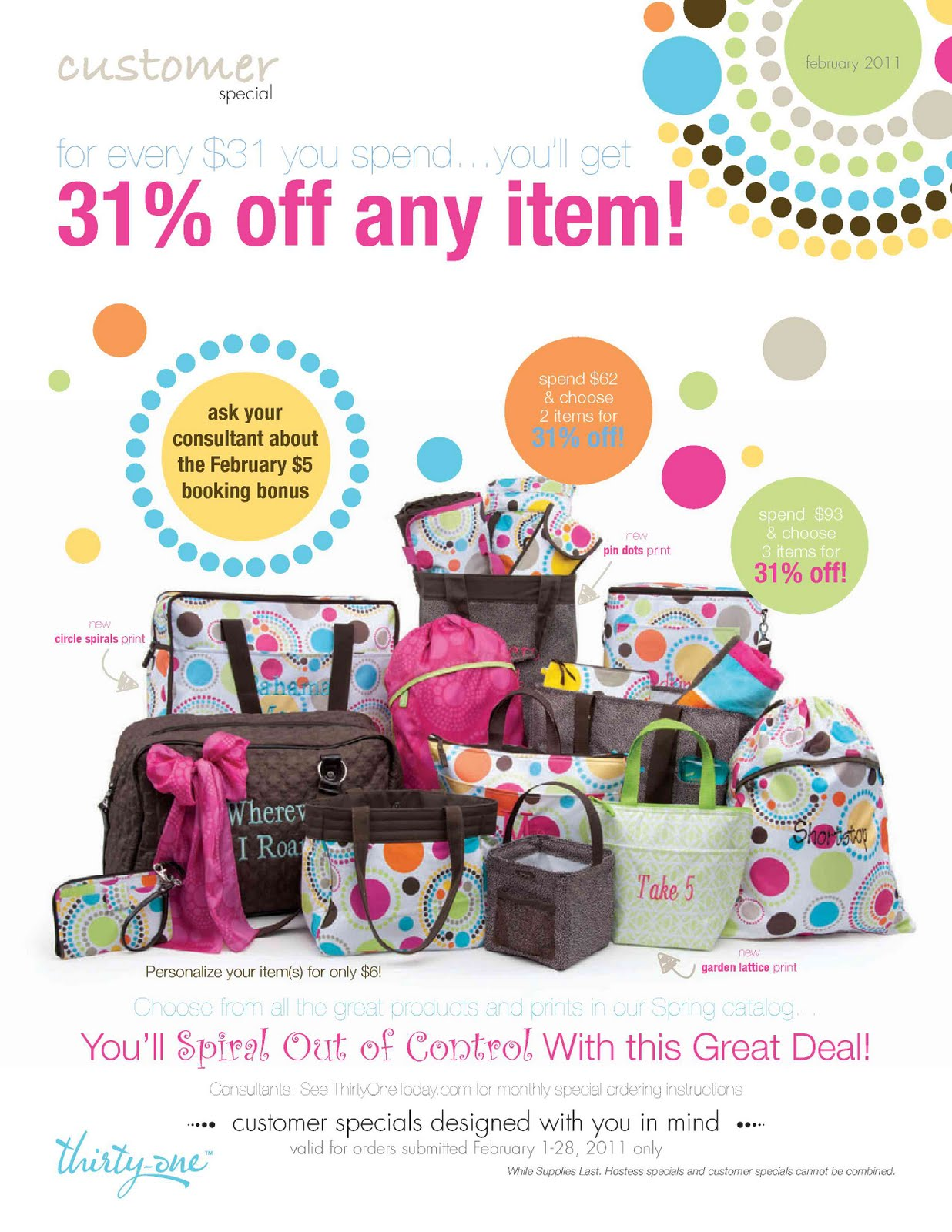 February Hostesses get BIG rewards when you host a $450+ party…you can choose the Cindy Tote at 70 percent off! Yes, one of our most popular products can be ...
