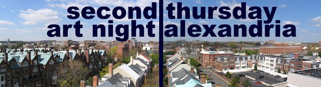 Second Thursday Art Night GALLERY HOP in Old Town Alexandria