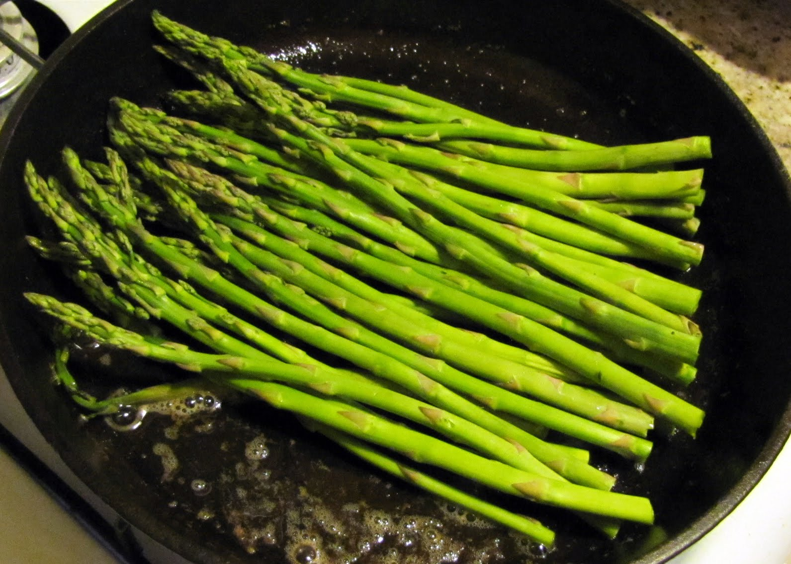 Cover Skillet And Allow Asparagus To Steam Until Fork Tender, About Three  Minutes Smells Like