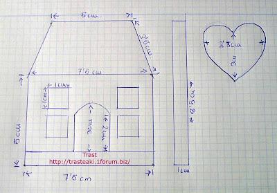 Tutos en la web para pao casita llavero de trast - Patrones casas patchwork ...