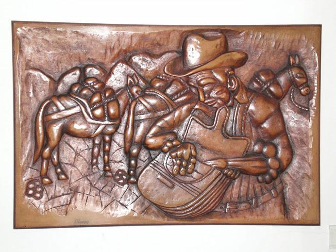 Arriero tallado en madera