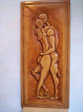 Amantes Tallados en madera