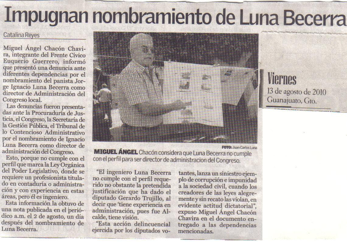 Luna Becerra Guanajuato Gerardo Trujillo  PAN