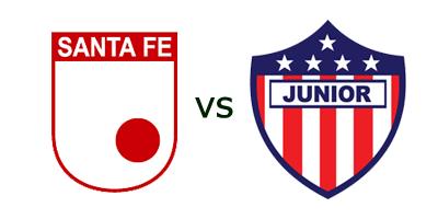 Ver Partido Santa Fe vs Junior de Barranquilla en Vivo