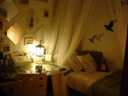 a dorm room just get a canopy and some adhesive bird stickers and Voila! Instantly makes the room look & The World Inside A Picture Frame: Dorm Room